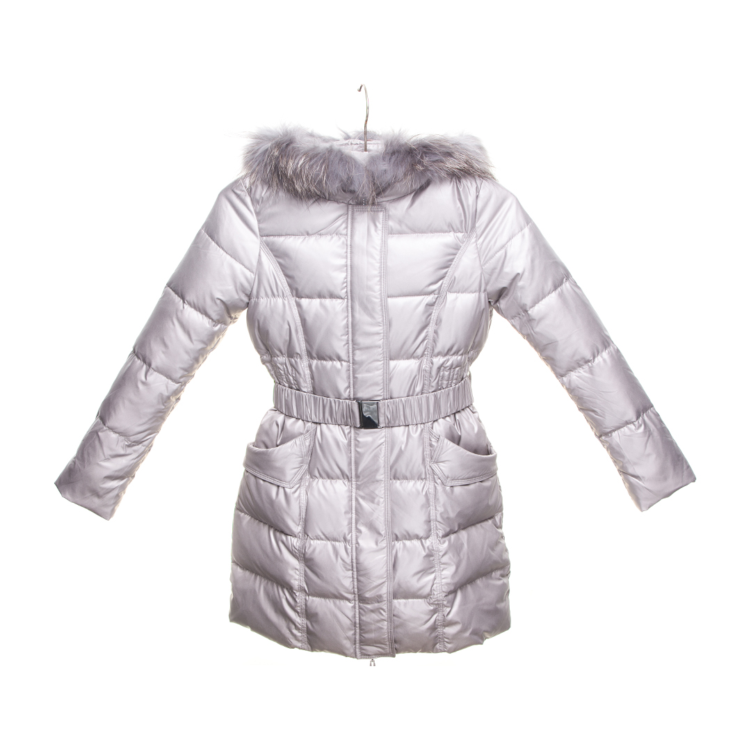 8e740b07b9e46 IN KIDS dark grey down coat for girls