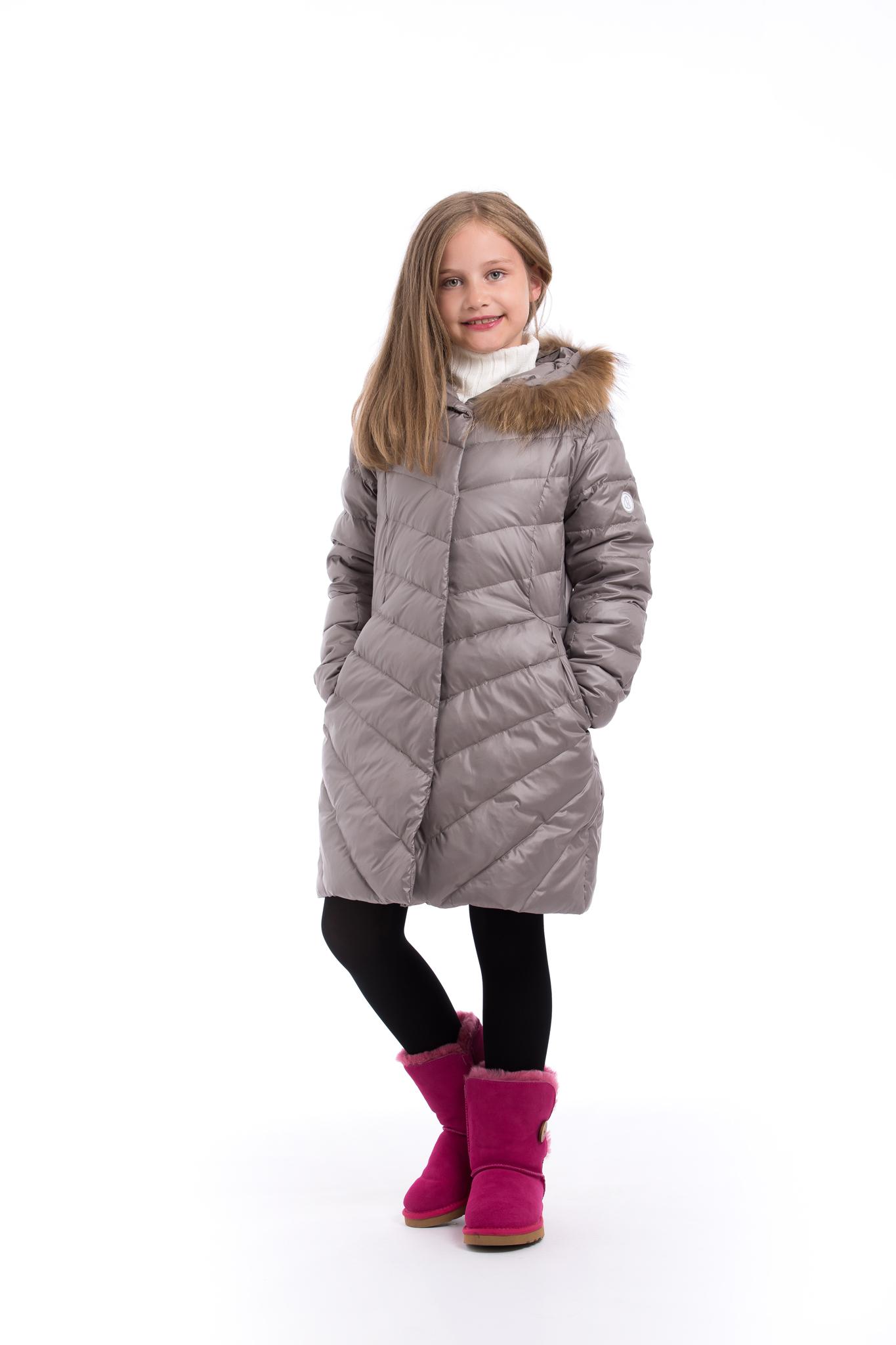 c486ead6da6bb Girls winter down coat in dark grey colour - Pengu KIDS