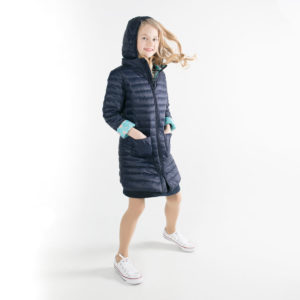 Pengu KIDS ultra light down coat in dark blue