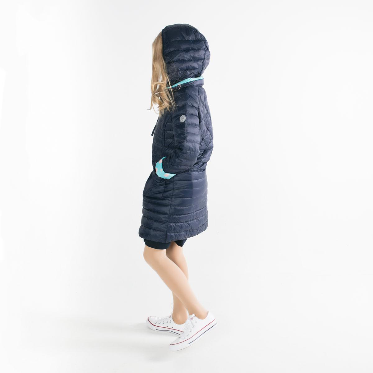 Pengu KIDS ultra light down coat in dark blue