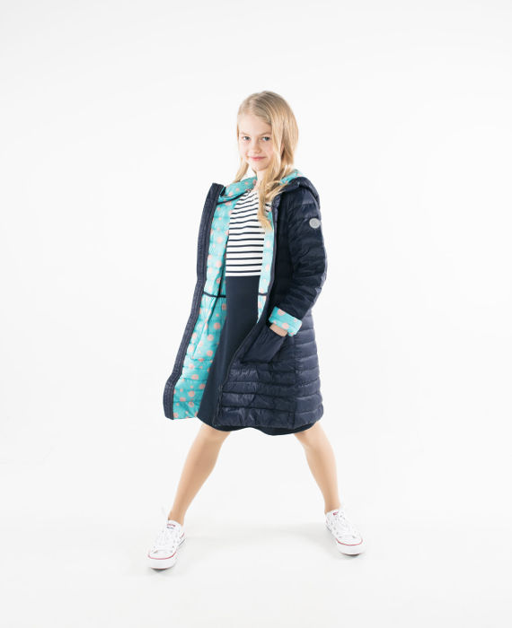 Pengu kids dark blue coloured ultra light down coat for girls for spring-autumn season
