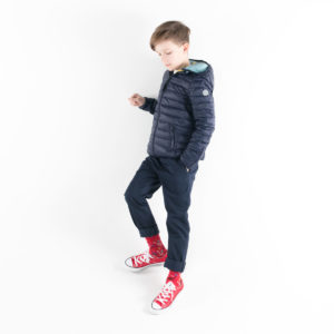 Pengu KIDS ultra light down jacket in dark blue