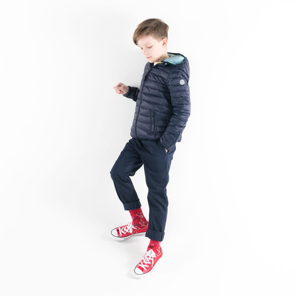 Pengu KIDS ultra light down jacket in dark blue