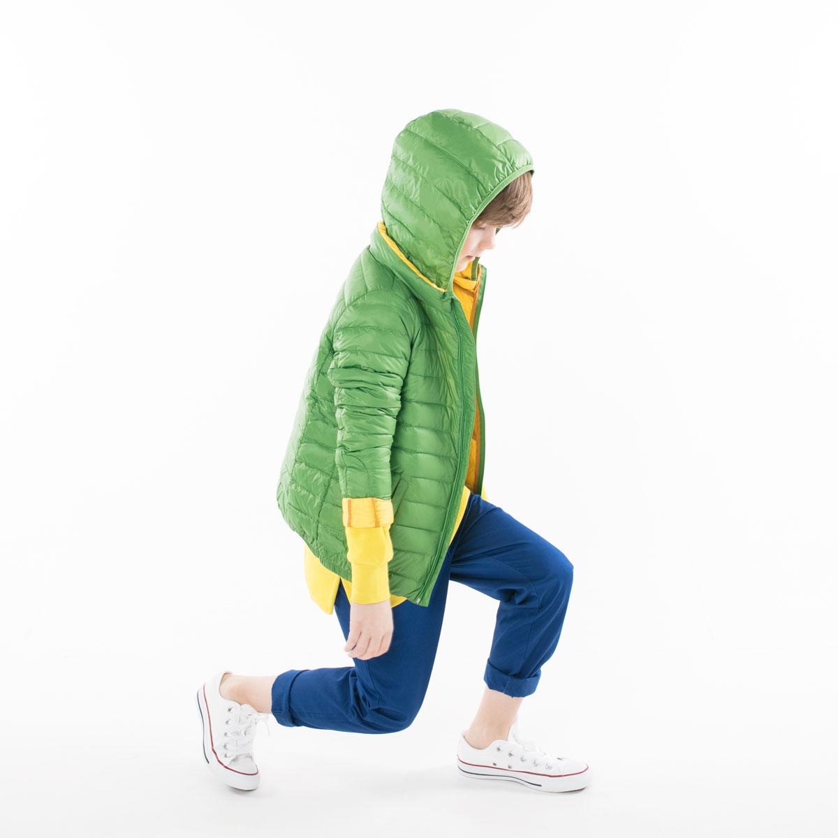 Pengu KIDS ultra light down jacket in green