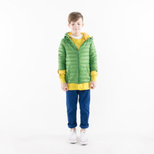 Pengu KIDS ultra light down jacket in green