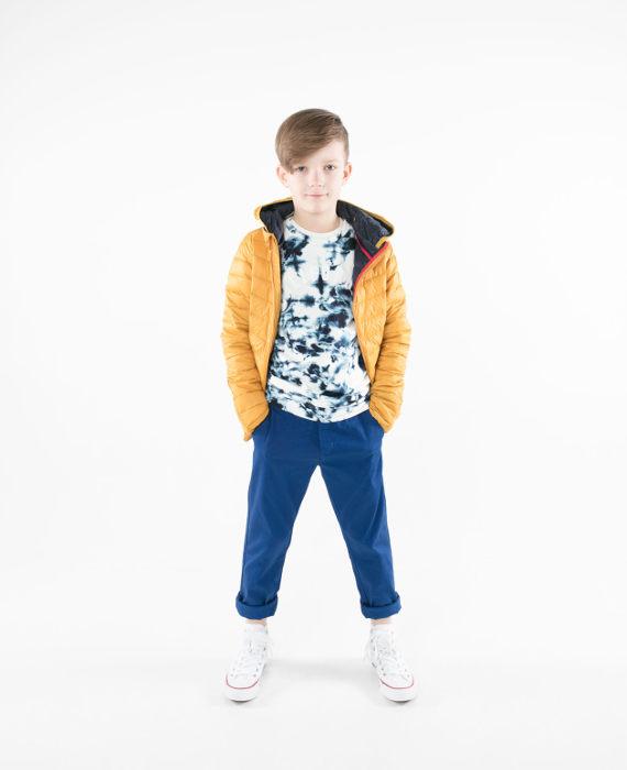 Pengu kids yellow ultra light down jacket for boys and girls for spring-autumn season